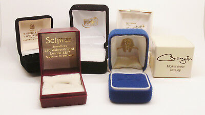 Lot Of 6 Various Brand Ring Boxes