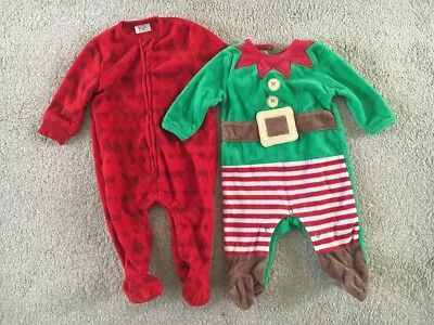 Christmas Outfit Bundle Boys Girls 0-3 Mths