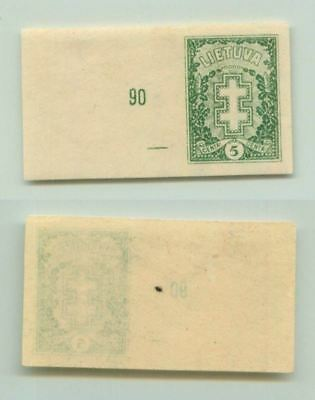 Lithuania 1927 SC 212 MNH imperf . f2656