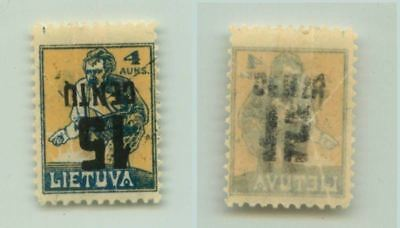 Lithuania 1922 SC 153a mint inverted surcharge . f3126