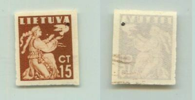 Lithuania 1940 SC 319 MNH imperf color proof . f2693