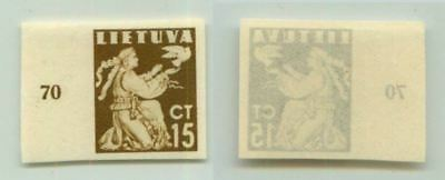 Lithuania 1940 SC 319 MNH imperf color proof . f2692
