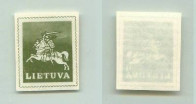 Lithuania 1991 SC 385 MNH missing black color . f2708