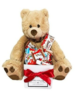 BRAND NEW Bear & My Kinder Hamper Edible Gift Hamper Chocolate Jumbo Teddy Bear