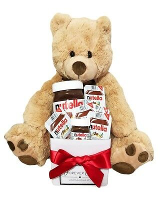 BRAND NEW Bear & Nutella Hamper Edible Gift Hamper Chocolate Jumbo Teddy Bear