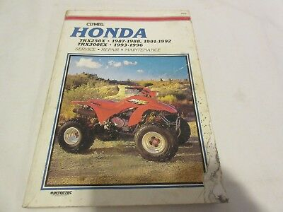 2004 1987-1992 honda trx250x, 1993-2006 trx300ex atv repair manual 2005  on 1984