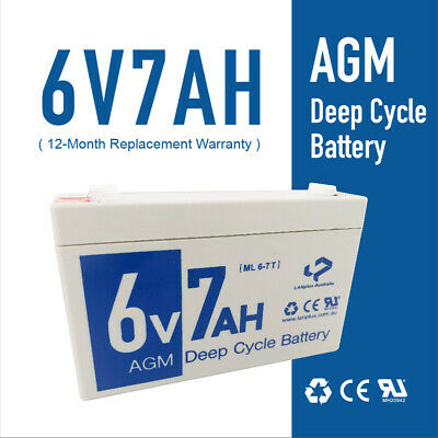 Brand new 6V 7AH Sealed Lead-Acid Battery AGM for UPS APC Alarm Toy car 7ah 20hr