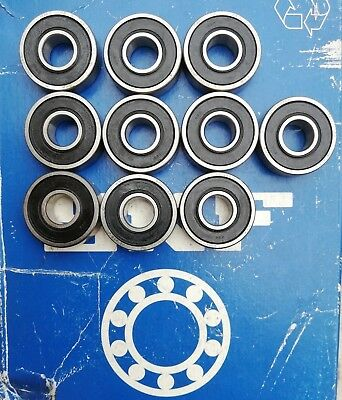 10 X SKF 6000 2RS H Rubber Sealed Deep Groove Ball Bearings 10x26x8mm