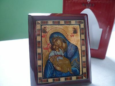 Religious Reproduction Byzantyne Icon - Madonna and Child