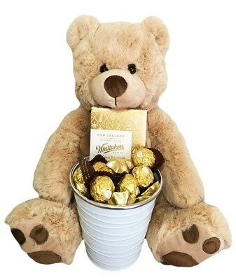 BRAND NEW Bear & Whittaker's Edible Gift Hamper Chocolate Jumbo Teddy Bear