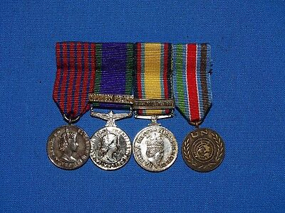 Post-WWII British Miniature Medal 4 Place Bar (C)