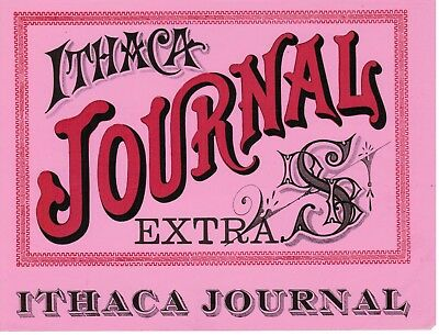 Ithaca Journal: vintage textual cigar box label