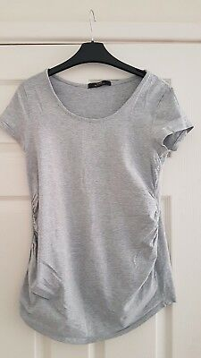 Four Maternity Tops. Grey, Black, White And Purple. Size 10. Great Condition.