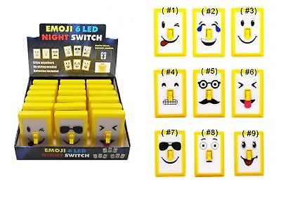 Emoji Light Switch Night Light - 6 LED lights - Perfect Stocking Stuffers - HOT!