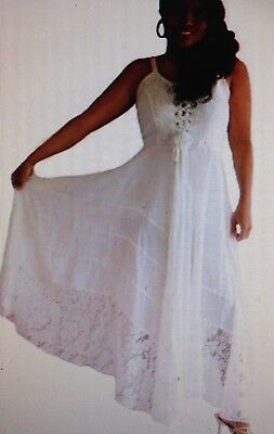 Plus Size  Strappy Lace Tiered Wedding Dress Bridesmaid