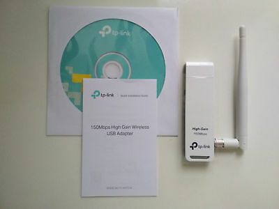 TP-Link TL-WN722N 150Mbps WiFi Wireless USB Adapter Antenna Windows 7/8/10 BULK