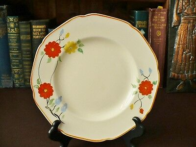Art Deco Crown Ducal Plate - Art Deco Hand Painted Plate