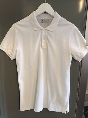 Moncler Boys Polo Shirt White Age 14