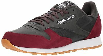 41c22e7ee433 Reebok Classic Leather Men s Running Training Shoes Coal Urban Maroon BS9744