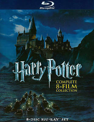 Harry Potter Complete 8-Film Collection Blu-ray Disc 8-Disc Set 2011 Radcliffe