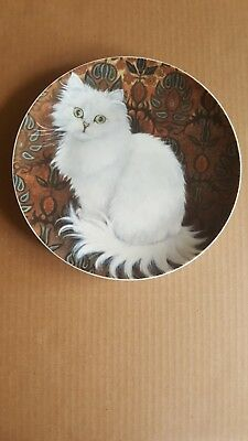 White Persian Cat Decorative Plate Cat Lover Cat Lady Collectible Artmark
