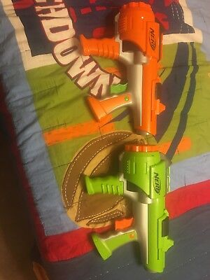 nerf dart tag gun lot of 2