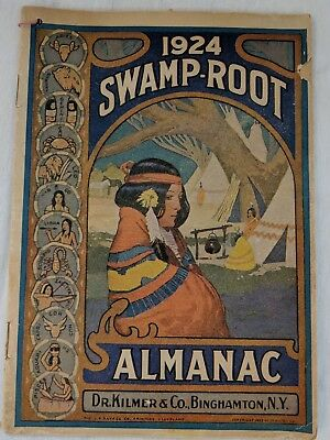 1924 Swamp Root Almanac Farmers Weather Forecast Vintage Booklet Native American