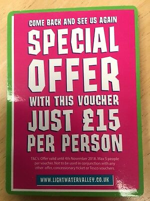 Lightwater Valley Voucher £15 Entry Per Person, Max 5 People