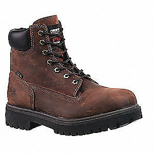 TIMBERLAND PRO Work Boots,Stl,Mens,7M,6In,Brn,PR, 38021, Brown
