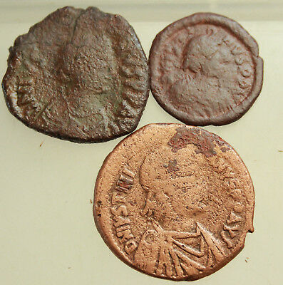 Lot of 3x Bzyantine AE Coins D=21-32mm
