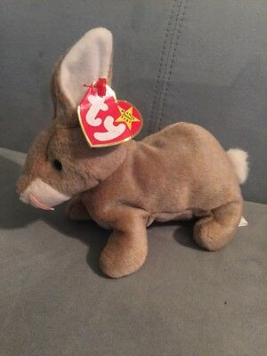 1999 Brown Nibbly Easter Spring Bunny Rabbit TY Beanie Baby