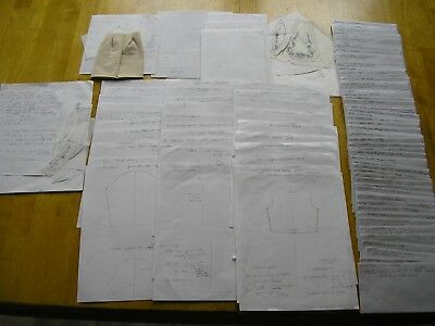 """HUGE lot PATTERN PIECES I drafted for Dianna Effner 13"""" LITTLE DARLING doll"""