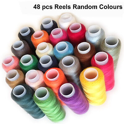 Finest quality 100% cotton thread reel 24 different colour sewing machine spools