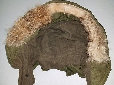 M 1951Fishtail Parka Hood replacement wolf fur strip govt issue replacement