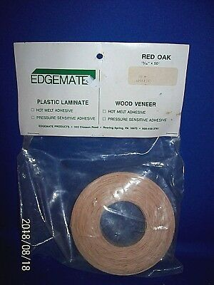 "Edgemate Red Oak Wood Veneer Edgebanding 13/16"" X 50'"