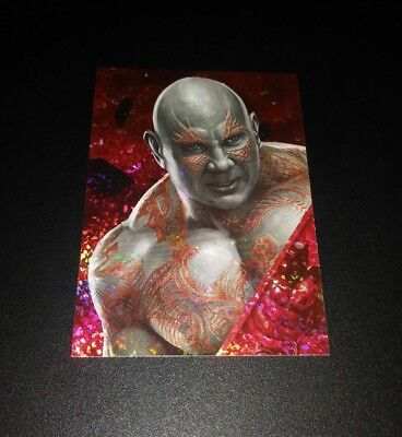 Drax Refractor #152 Card Karte Panini 2017 Marvel Guardians Of The Galaxy