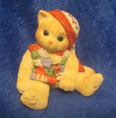 Enesco Calico Kittens One Look From You Melts My Heart 1998 Priscilla Hillman