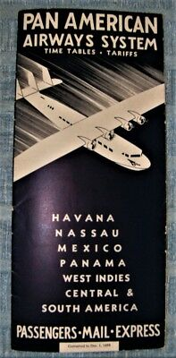 Dec 1 1933 timetable  S-42 new aircraft on cover