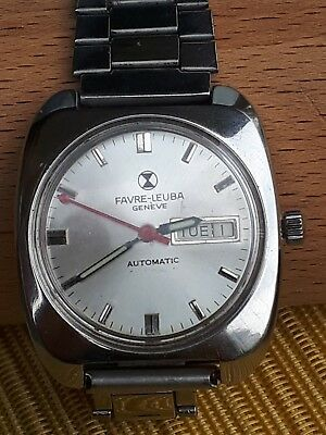 Swiss Made Vintage Men's Favre Leuba Geneve Automatic Daydate Working