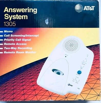 AT&T Answering System 1305 Two-Way Recording Remote Access Micro Cassette NEW