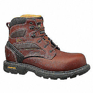 THOROGOOD SHOES Work Boots,8-1/2W,Brown,Composite,PR, 804-4446, Brown