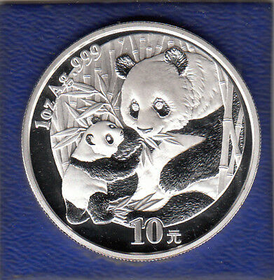 China 10 Yuan 2005 Panda Silber