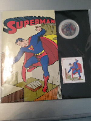 Superman 2013 Canada Coin Stamp Set  Lenticular  50 Cents Then & Now
