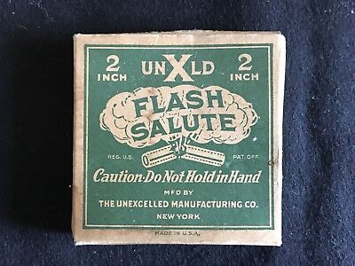 Vintage Unxld Flash Salute 2 Inch Firecracker Box Only EMPTY
