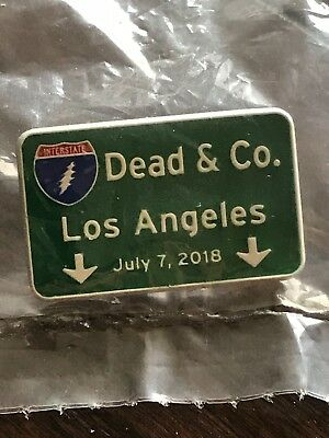 Dead & And Company Co Pin Los Angeles Dodger Stadium 7/7/18 Freeway Sign Hat Pin