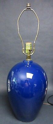 Vintage Royal Haeger Cobalt Blue Ceramic Table Lamp 26""