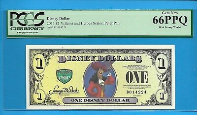 2013 $1 Villians And Heroes Series:Peter Pan Disney Dollar PCGS 66PPQ #D014224