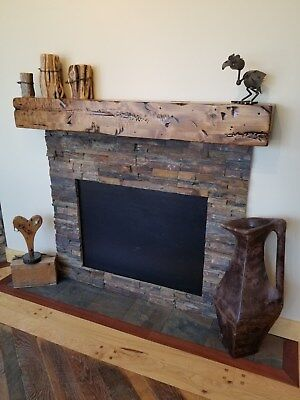 Five Foot New Pine Hand Hewn Rustic Barn Beam Style Fireplace Mantel 5 Foot