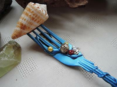 ,Mermaid Inspired Dinglehopper,Unique,Hand Decorated Fork,