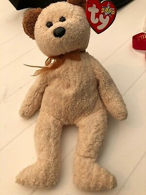 Ty Beanie Baby *Huggy* Bear Retired 2000 Tush tag has heart------MINT!